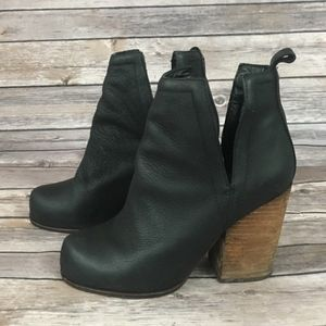 Jeffrey Campbell Oshea Black Leather Ankle Boot